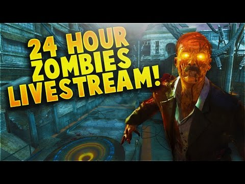 24 Hour Call of Duty Zombies Livestream! WaW-BO3 Every Zombies Map!