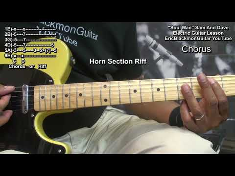 How To Play SOUL MAN Sam And Dave On Guitar #1 - Steve Cropper Double Stops