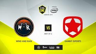 Wind and Rain vs Gambit Esports, ESL One Hamburg 2019, bo2, game 2 [Lex & 4ce]