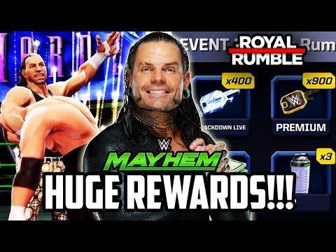 WWE MAYHEM HUGE ROYAL RUMBLE REWARDS!!!