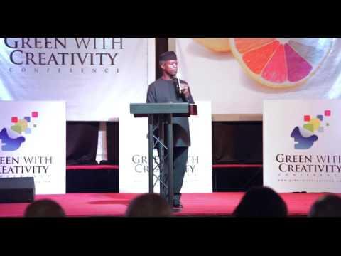 2016 Green with Creativity with Prof Yemi Osinbajo