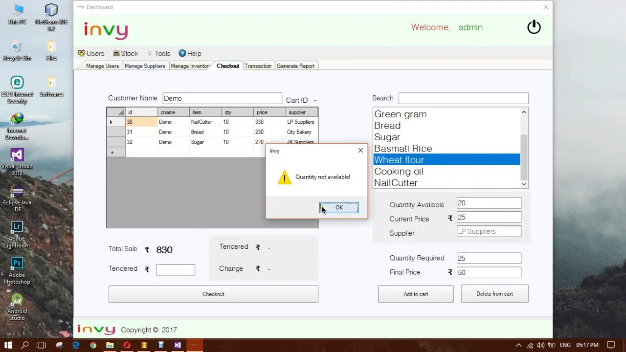 Sales And Inventory Management System C Project Youtube