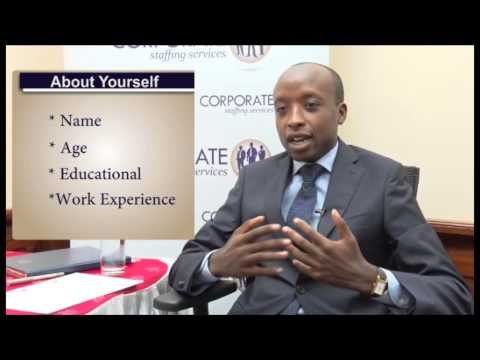 Answer Tell Me About Yourself Job Interview Question Kenya