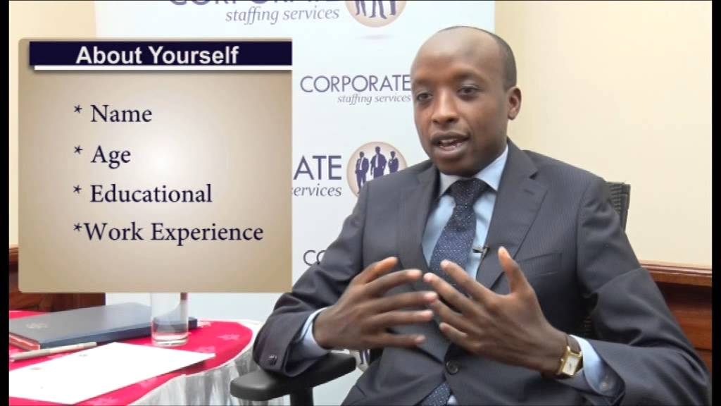 Amazing Answer Tell Me About Yourself Job Interview Question Kenya   YouTube