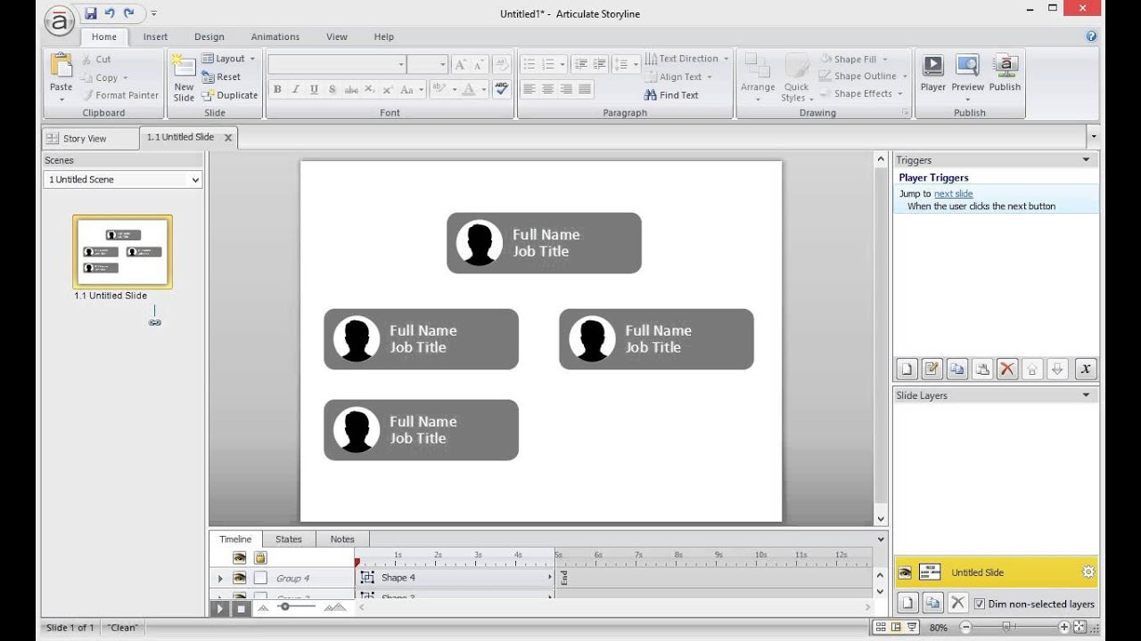 How to build an interactive org chart in storyline also youtube rh