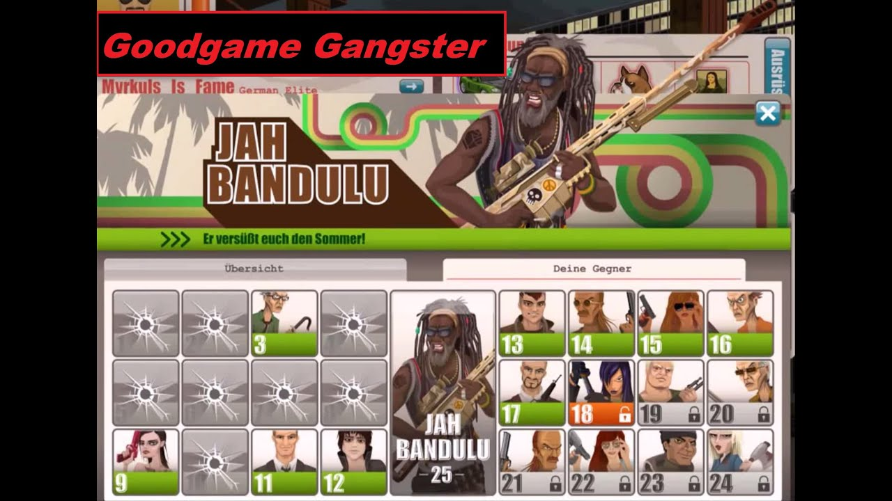 Goodgame Gangster: Jah Bandulu 2015 - Hit some Wanteds #1 ... Goodgame Gangster