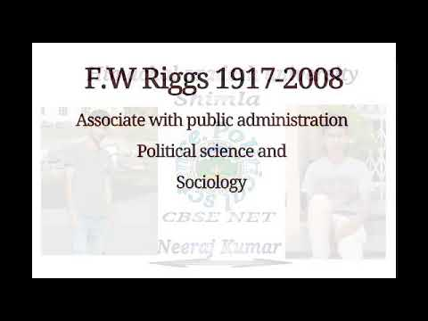 fw riggs on society and administration