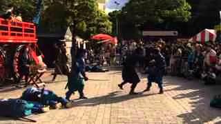 仙台青葉まつりで行われた東北大学の学生による時代劇演武です。