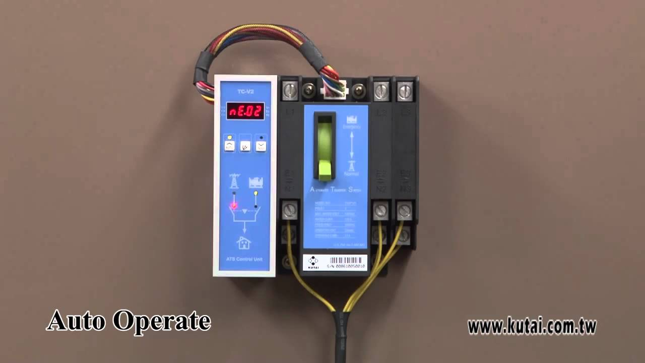 3P 125Amp Residential Automatic Transfer Switch - YouTube