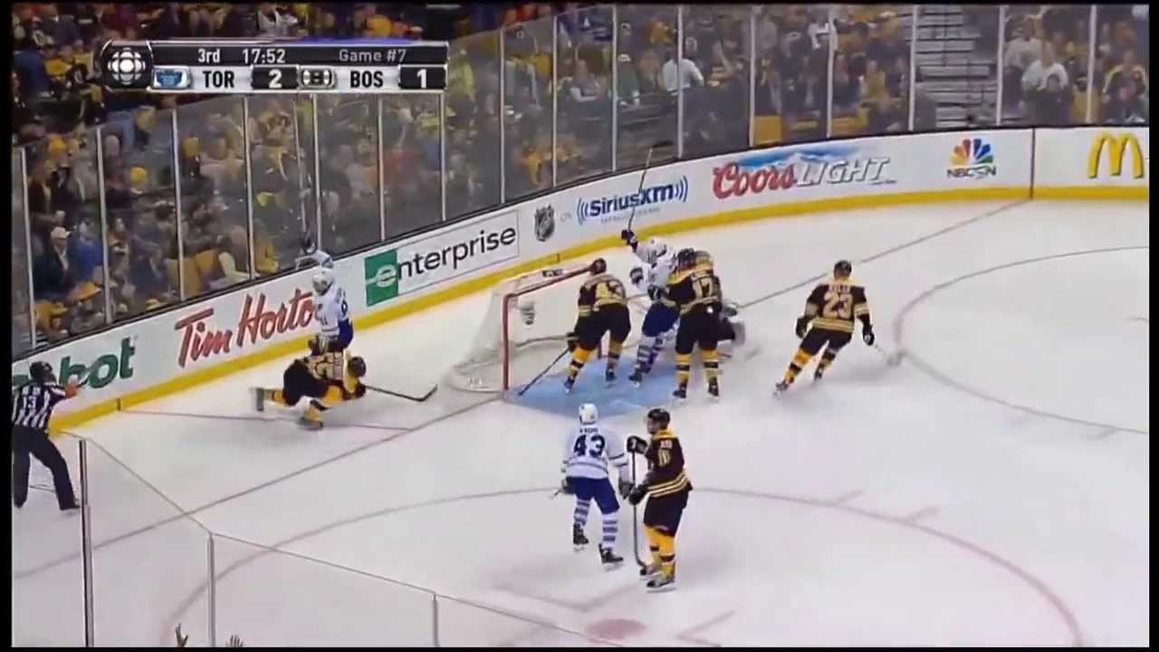 Boston Toronto Game 7 Highlights Hd 5 4 Bruins Win Leafs Collapse Youtube