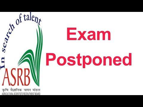 ASRB ICAR EXAM POSTPONED || telugu job informaction