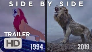 The LION KING Official Trailer   1994 & 2019 Comparison   SIDE BY SIDE