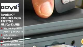 "ODYS Portabler 7"" DVB-T/DVD-Player PDV 67003 MP3/Car-Kit/USB"