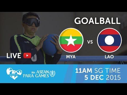 Goalball Men's Myanmar vs Laos | 8th ASEAN Para Games 2015