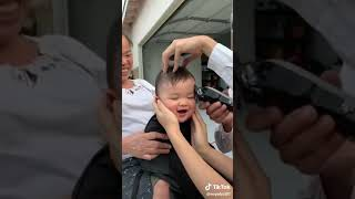 Funny cute baby
