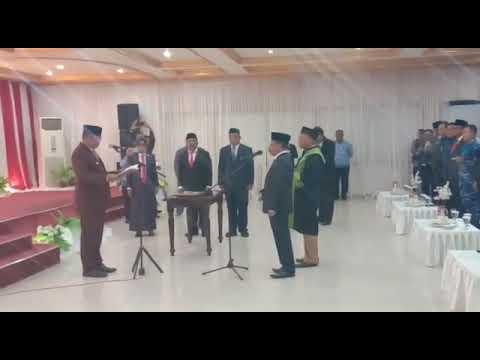 PELANTIKAN DAN PENGAMBILAN SUMPAH JABATAN DRS YANI RAHAWARIN, M.SI SEBAGAI SEKDA MALRA