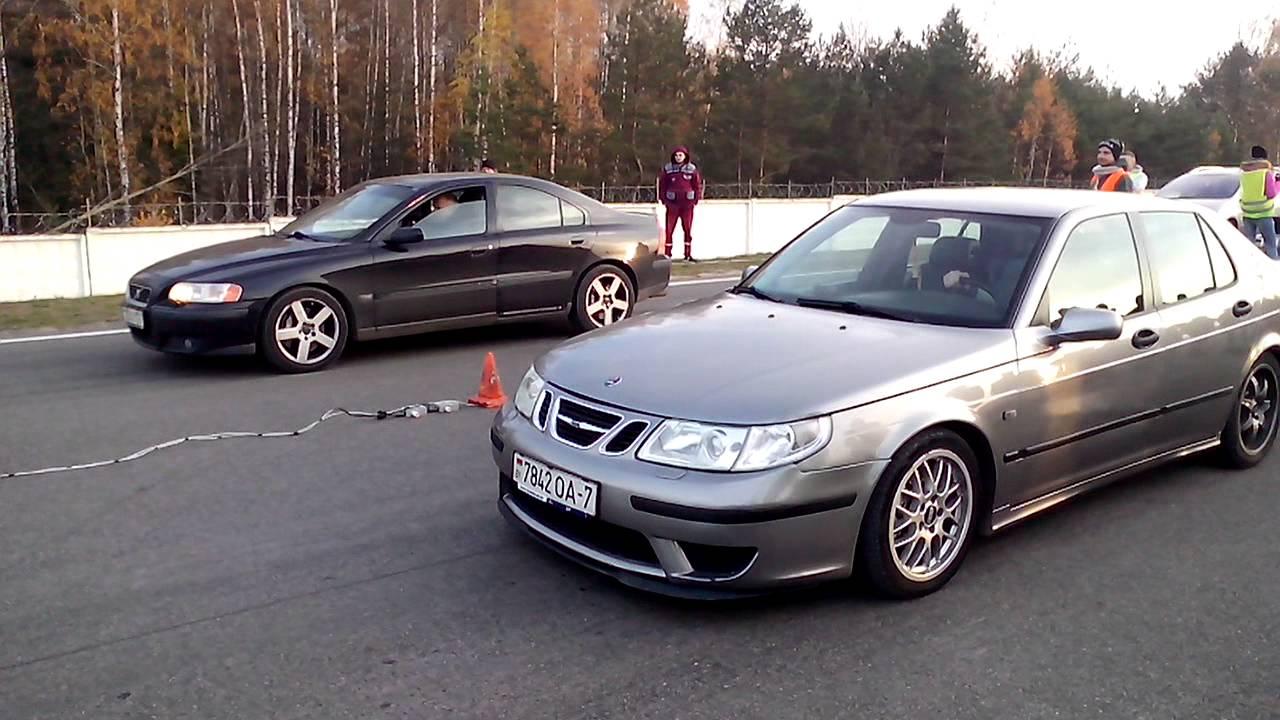 Saab 9-5 by JET vs. Volvo S60R AWD - YouTube