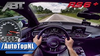 Audi RS6+ ABT 705HP AUTOBAHN POV ACCELERATION by AutoTopNL