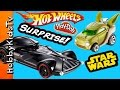 Hot Wheels Star Wars Track Set! Play-Doh Surprise GIANT Eggs HobbyKidsTV