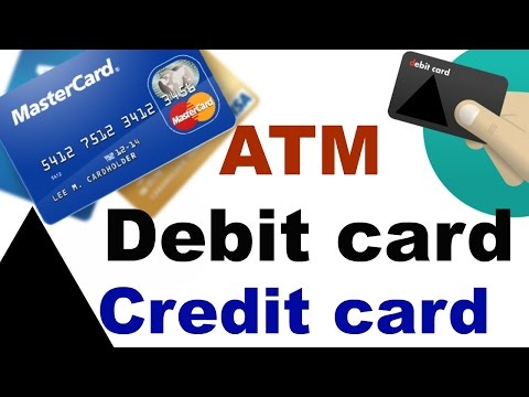 What is ATM, Debit card and Credit card | Difference between a Debit and Credit Card