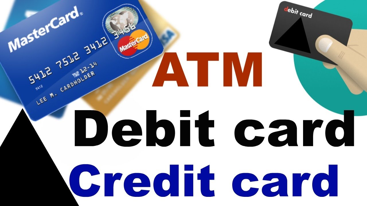 what is atm, debit card and credit card | difference between a debit