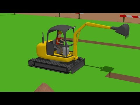 #Excavator Mini, Trucks | Street Vehicles | Construction Of The Airport | Maszyny Drogowe Budowa