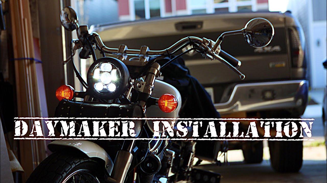 Honda Shadow Daymaker Installation Youtube