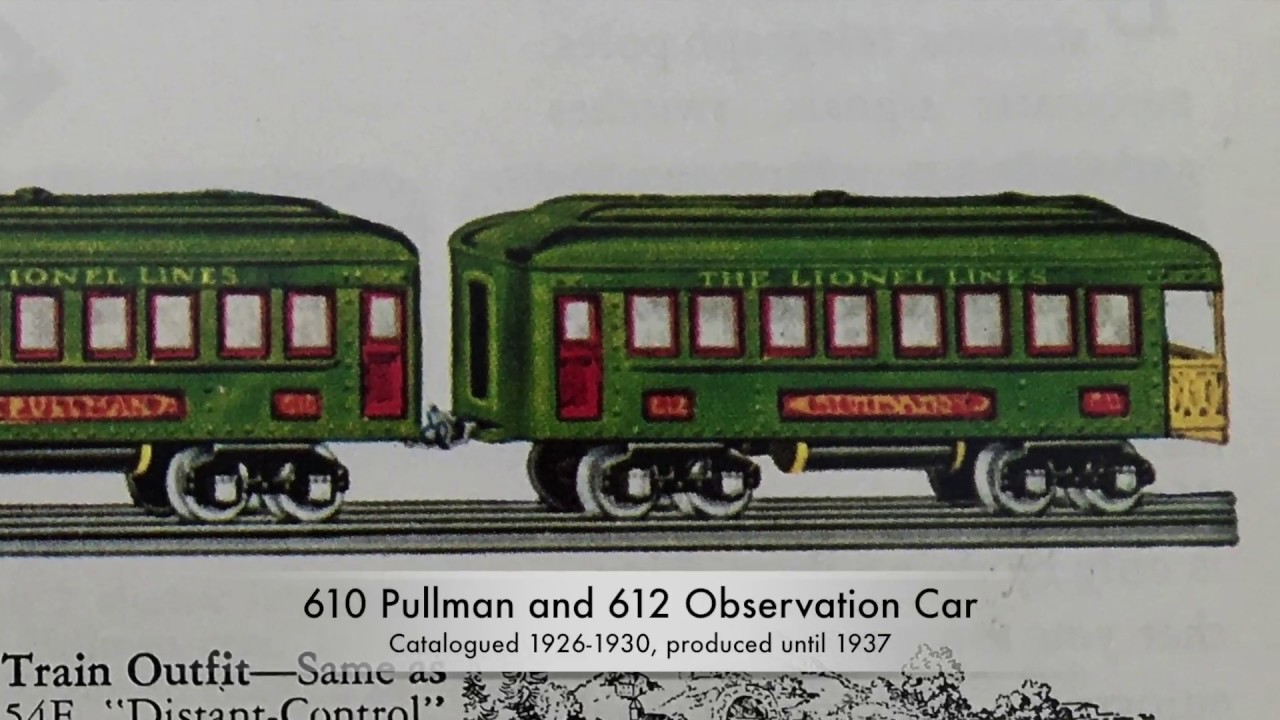 Classic Lionel Trains Middle Series Passenger Cars 1925 1933