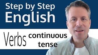 English verbs - Present continuous tense