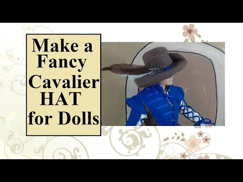 2b726fc54 How to Make a Cavalier Hat for Ken Dolls