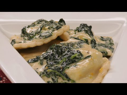 Raviolis de queso ricotta y espinaca