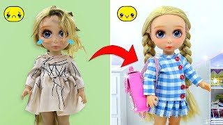 DIY BABY DOLL TRANSFORMATION 😱 How to make New Clothes, Makeup, Hairstyle for Baby Doll