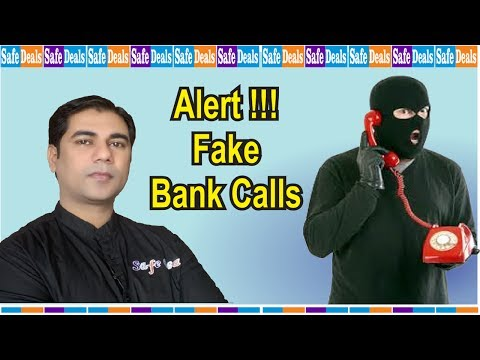 Alert - Fake Bank Call For Card Details – Do Not Provide Any Information On Call.