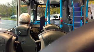 Ride on Translink Ulsterbus Urby (Metro) Wright Streetdeck No. 3126 on Route 650a Blacks Road P&R