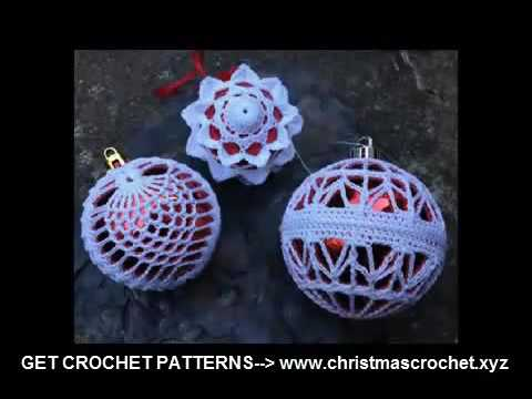 crochet christmas decorations patterns easy crochet projects - YouTube