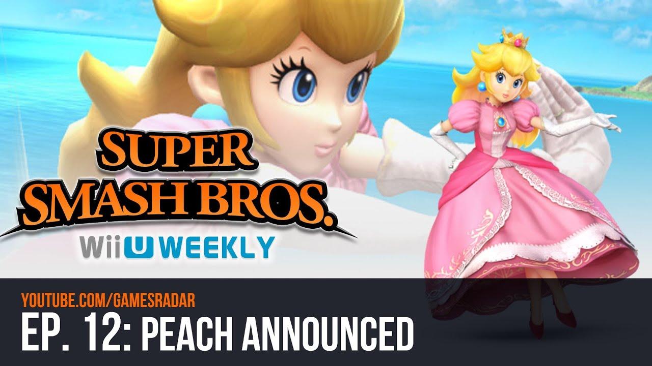 super smash bros wii u3ds weekly peach announced youtube