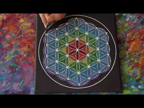 Elspeth McLean- Time Lapse video of Flower of Life: Sacred Geometry