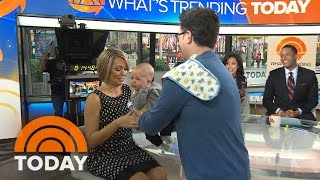 Dylan Gets Sweet April Fools' Day Surprise: Baby Calvin Visits TODAY! | TODAY