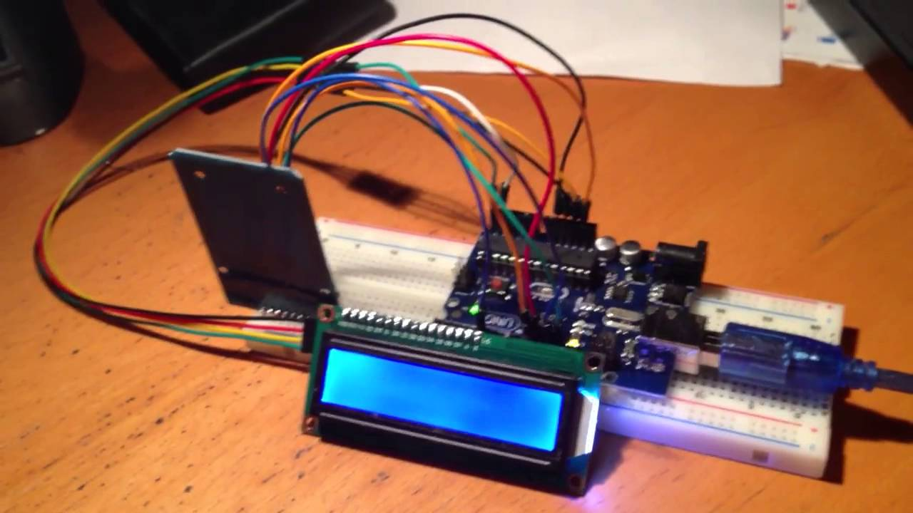 Arduino Rfid And Lcd Youtube