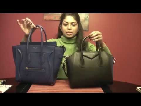 50352e0f72a9 Comparison of Givenchy Antigona and Celine Micro luggage - YouTube
