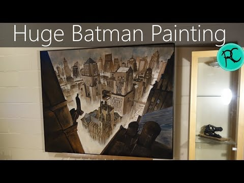 Huge Batman & Gotham painting