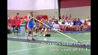 Video: Wrightstown's Bonnie Draxler sets pole vault record