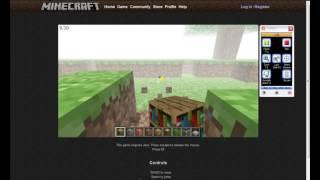 Minecraft demo no click jogos :D