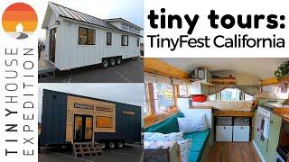 Tiny Home Tours @ Tinyfest California: Skoolie, Thow, Prefab