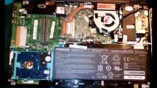Toshiba Satellite Radius P55W Disassembly.  Coffee Spill, Will Not Power-on