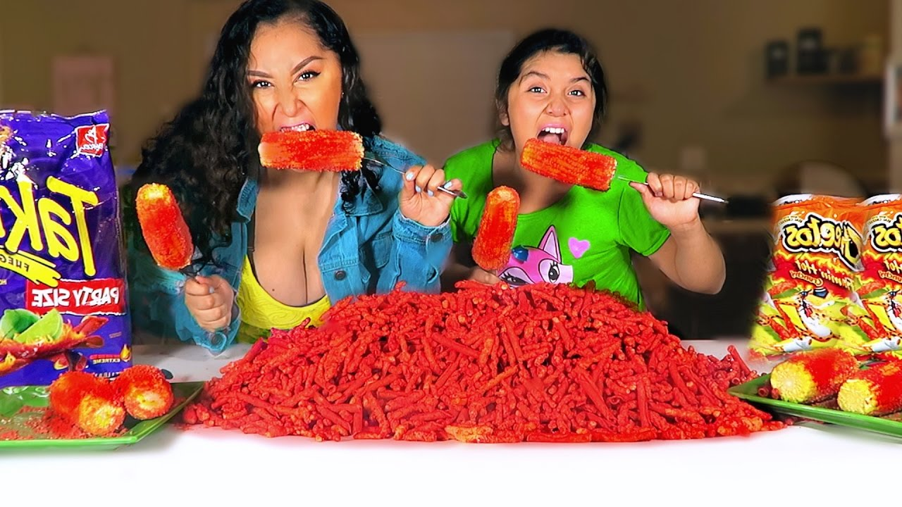 Hot Cheetos Takis Corn On The Cob Challenge Youtube