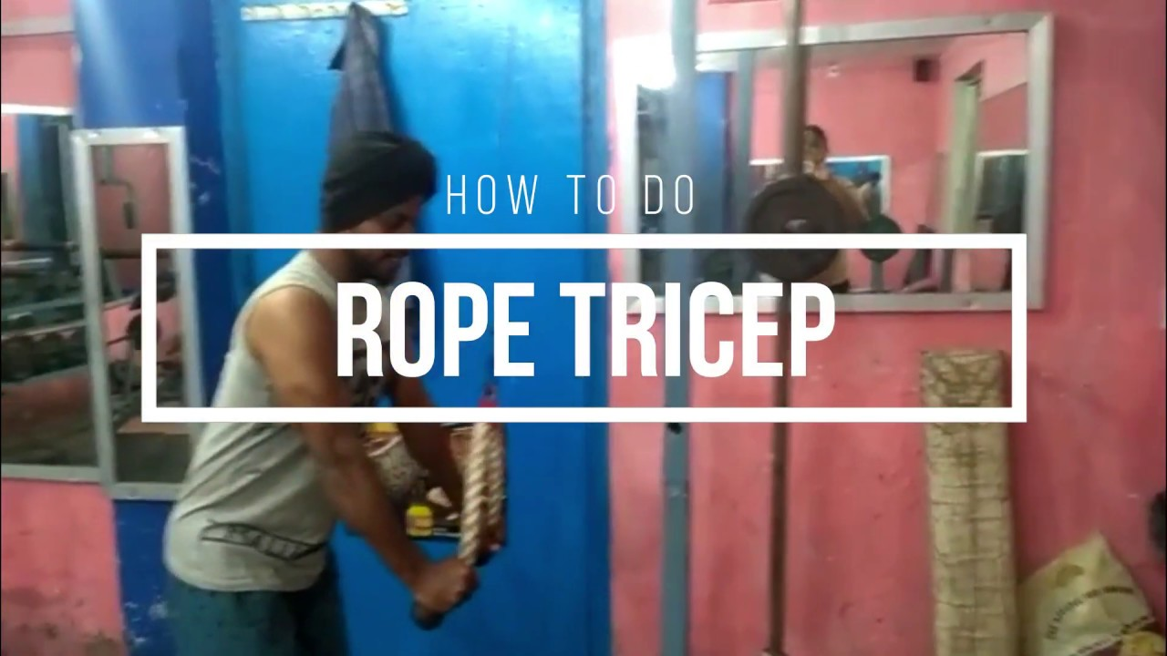 8b3c4846f5 How To  Rope Tricep Exercise 2018