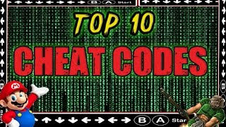 Top 10 Cheat Codes in Video Games