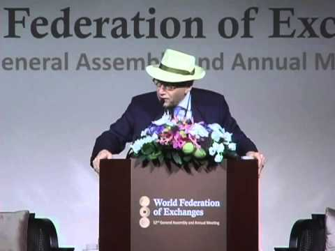 The World Federation of Exchanges honors Richard L. Sandor w