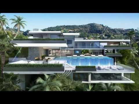 Two modern mansions on sunset plaza drive in la places for Best modern mansions